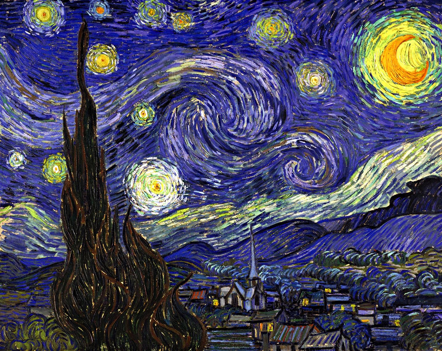 starry night with the - photo #4